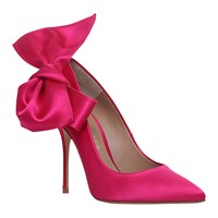 Kurt Geiger Evie High Heel Court Shoes Hot Pink Satin