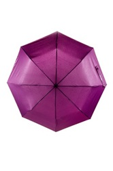 Steve Madden Snake Print Automatic Open Umbrella Purple