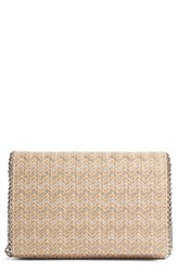 Chelsea 28 Chelsea28 Stripe Straw Convertible Clutch