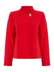 Episode Funnel Neck Buckle Cape Red