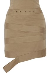 Monse Cotton Canvas Mini Skirt Beige