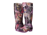 Kamik Orchid Black Purple Women's Rain Boots Multi