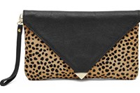 H Butler Mighty Purse Power Bank Envelope Clutch Leopard Print