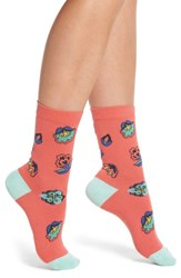 Paul Smith Eloise Kyoto Crew Socks Coral