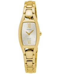 Seiko Women's Solar Sport Gold Tone Stainless Steel Bracelet Watch 18Mm Sup320 No Color