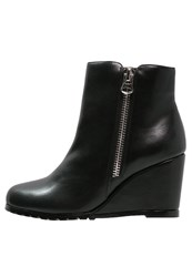 Buffalo Ankle Boots Black Silver