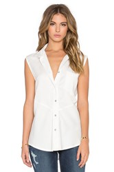 Benjamin Jay Madison Button Up Tank White