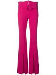 Genny Flared High Rise Trousers Pink