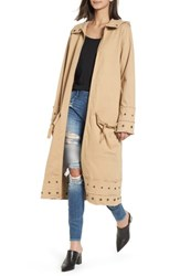 True Religion 'S Brand Jeans Snap Detail Trench Coat Honey Taupe