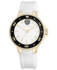 Vince Camuto Women's White Silicone Strap Watch 41Mm Vc 5282Gpwt