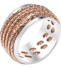 Links Of London Celeste 18Ct Rose Gold Vermeil And Sterling Silver Ring Mixed Metal