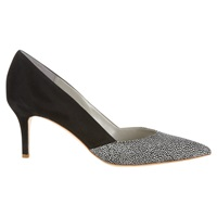 Jigsaw Lily Suede Court Shoes Black