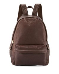 Brunello Cucinelli Men's Leather Backpack Brown