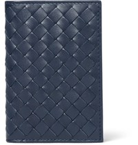Bottega Veneta Intrecciato Leather Bifold Cardholder Midnight Blue