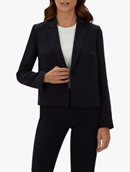 Jaeger Casual Cropped Jacket Navy