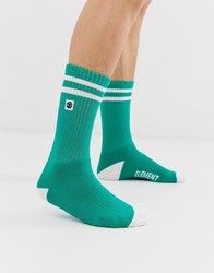 Element Socks With Box Logo In Green