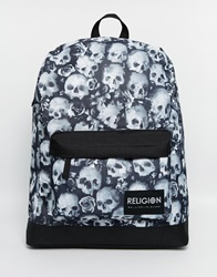 Religion Skull Backpack Black