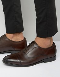Base London Richards Leather Oxford Shoes Brown