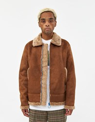 Soulland Max Faux Shearling Jacket Brown