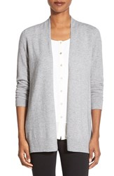 Women's Nordstrom Collection Open Front Cashmere Cardigan Grey Clay Heather