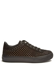 Jimmy Choo Ace Star Cut Out Suede Trainers Black Multi