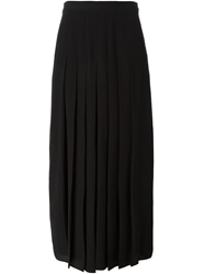 Givenchy Long Pleated Skirt Black