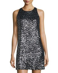 Milly Sequined Racerback A Line Dress Black