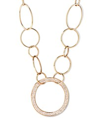 Stardust 18K Gold Pave Diamond Hollow Pendant Chain Necklace Ippolita Red