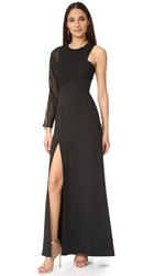 Bcbgmaxazria One Shoulder Gown Black