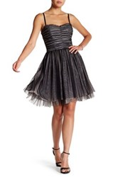 Betsey Johnson Sweetheart Party Dress Gray