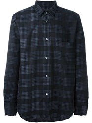Golden Goose Deluxe Brand Plaid Shirt Black