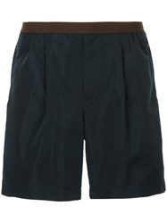 Kolor Fitted Waistband Shorts Blue