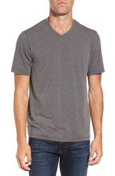 Travis Mathew Men's 'Uncle Bob 2.0' Solid Stretch V Neck T Shirt Heather Magnet