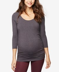A Pea In The Pod Maternity Ruched Tunic Grey