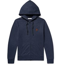 Outerknown Happy Carry On Hemp Blend Zip Up Hoodie Midnight Blue