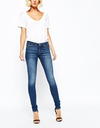 Weekday Saturday Low Rise Skinny Jean Wonderblue
