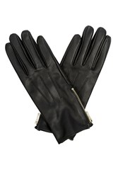 Oasis Zip Leather Glove Black
