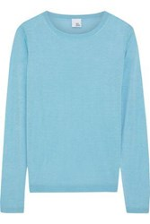 Iris And Ink Woman Gil Silk Cashmere Blend Sweater Turquoise