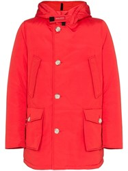 Woolrich Arctic Feather Down Coat Red
