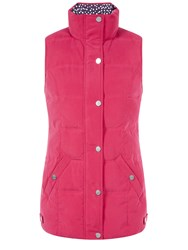 Dash Raspberry Quilted Gilet Pink