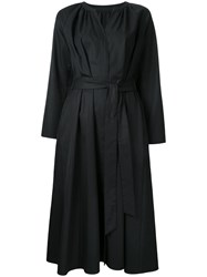 H Beauty And Youth Belted Shirt Dress Black