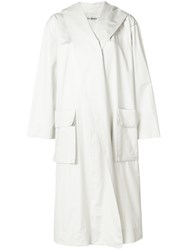 Issey Miyake Vintage Hooded Trench Coat White