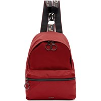 Off White Red Mini Backpack