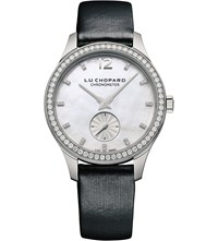 Chopard 131968 1001 L.U.C Xps 18Ct White Gold Mother Of Pearl Diamond And Leather Watch