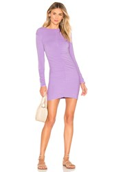 Indah Marzipan Ruched Mini Dress Lavender