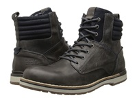 Type Z Belfair Grey Leather Men's Lace Up Boots Gray