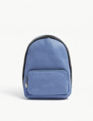 Stella Mccartney Falabella Faux Suede Mini Backpack Denim