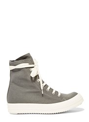Rick Owens Drkshdw Vegan Canvas Sneakers Grey