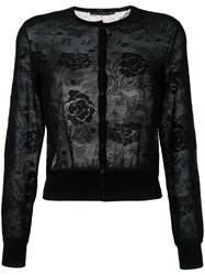 Ermanno Scervino Lace Cardigan Black
