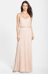 Women's Adrianna Papell Embellished Blouson Gown Blush